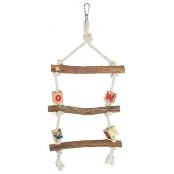 YML BT107 3-Step Rope Dragon Wood Ladder