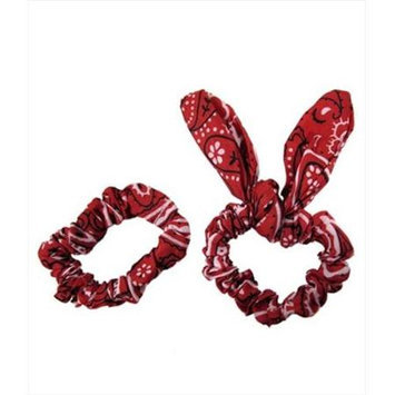 Coveryouhair CoverYourHair 61298 Set Of Two Paisley Scrunchies Red