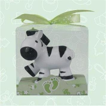 De Yi Enterprise De Yi 11002-BK Safari Zebra Candle Favors in White and Black