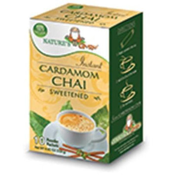 Nature's Guru Natures Guru Cardamom Chai Sweetened Drink Mix - Pack Of 8