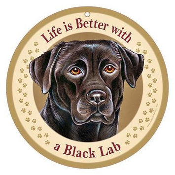 Sjt Enterprises Life Is Better Breed Plaque Black Lab