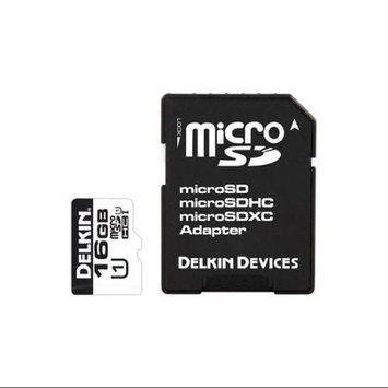 Delkin Devices 16GB MicroSDHC Memory Card 375X UHS-I with MicroSD Adapter