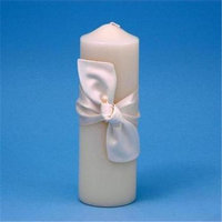 Beverly Clark 92PI Love Knot Pillar Candle - Ivory