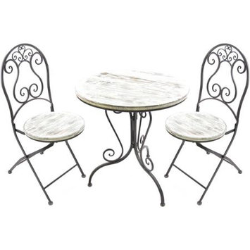 Jordan Manufacturing Wrought Iron 3 pc. Bistro Set