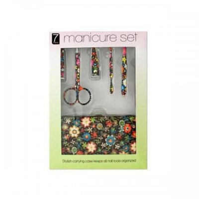 Bulk Buys Manicure Set with Stylish Floral Carrying Case