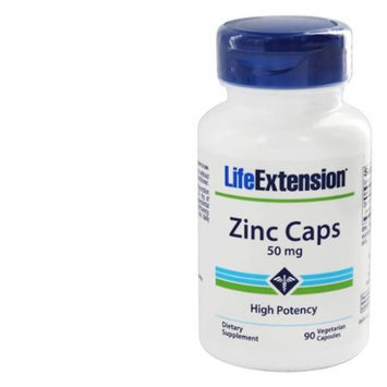Life Extension Zinc Caps 50 mg - 90 Vegetarian Capsules