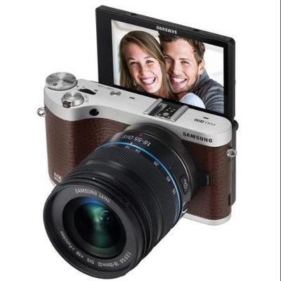 SAMSUNG NX300m EV-NX300MBSVUS Brown Smart Camera with 18-55mm Lens