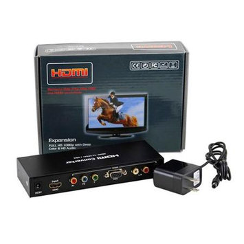 Gearonic Inc VGA Component YPbPr to HDMI Video Audio Converter TV R/L Stereo AV