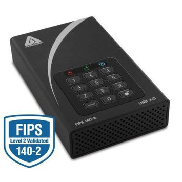 Apricorn Aegis Padlock DT FIPS ADT-3PL256F-3000 3TB 3.5in. External Hard Drive