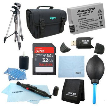 Special Fully Loaded Value 32GB Card & LP-E8 Battery Kit for Canon Rebel T4i, T3i & T2i