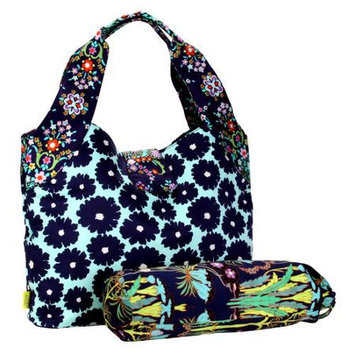 Amy Butler for Kalencom Tulip Diaper Bag Poppy Flower Blue