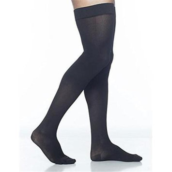 Sigvaris Midtown Microfiber 821NSLM99 15-20 mmHg Mens Thigh Small Long - Black