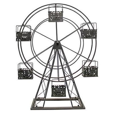 Vita V Home Metal Ferris Wheel Candle Holder