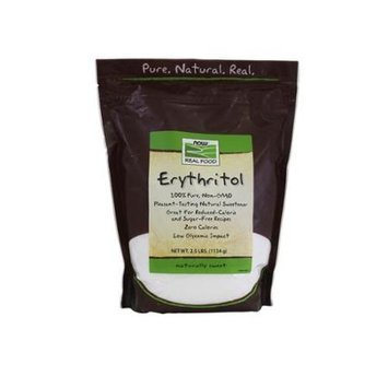 NOW Foods - Erythritol 100 Pure Natural Sweetener - 2.5 lbs.