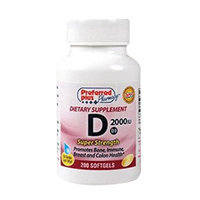 Preferred Plus Vitamin D3-2000 Iu Super Strength Softgels By Kpp - 200 Ea