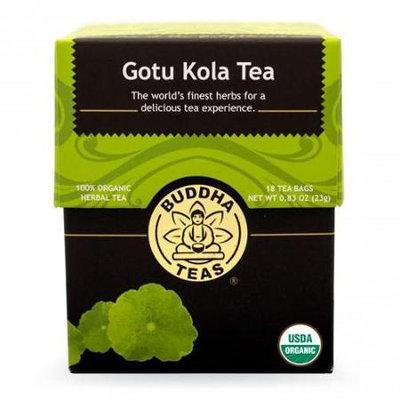Buddha Teas Gotu Kola 100 Percent Organic Herbal Tea 18 Bags Per Packet
