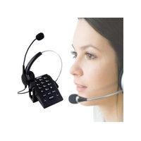 AGPtek Call Center Dialpad Monaural Corded Headset Headphone Telephone with Tone Dial Key Pad