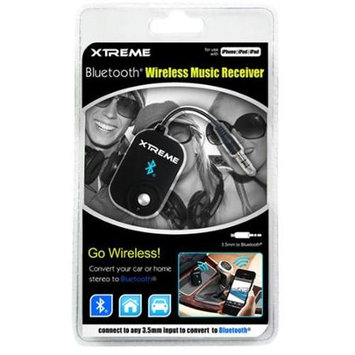 Xtreme Cables Bluetooth Wireless Music Receiver, Up to 33' Wireless Range