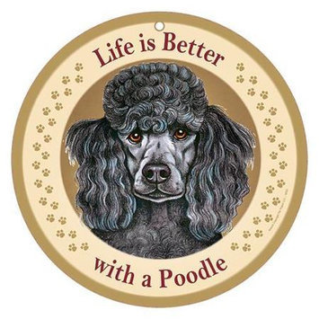 Sjt Enterprises Life Is Better Breed Plaque Poodle
