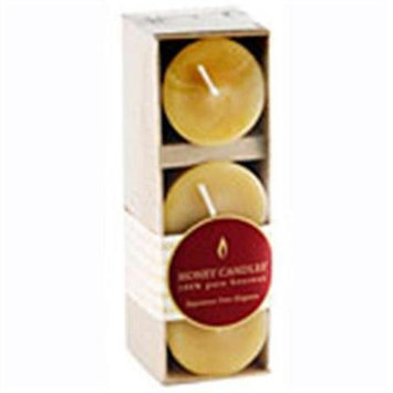 Frontier Natural Foods Frontier Natural Products 209756 Honey Candle Co. Pure Beeswax Candles Votives 3 Count