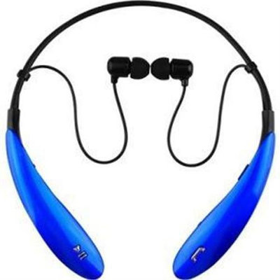 Supersonic IQ Sound Bluetooth Wireless Headphones and Mic - Stereo - Blue - Wireless - Bluetooth - 32.8 ft - 16 Ohm - 20 Hz - 20 kHz - Earbud - Binaural - In-ear