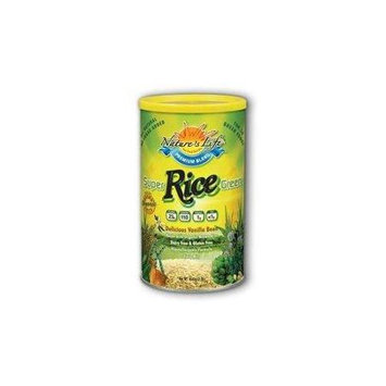 Super Green Rice Protein-Vanilla Nature's Life 1 lbs Powder