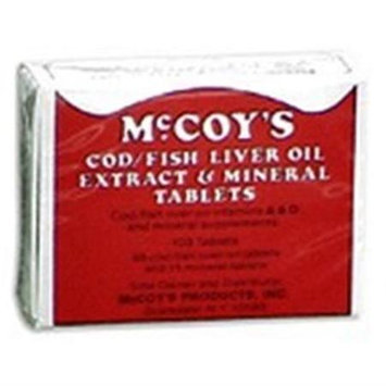 McCoys Cod Fish Liver Oil Extract & Mineral Tablets - 103 Ea