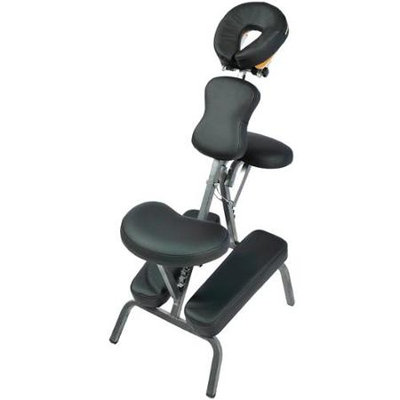 Professional Portable Foldable Light Weight Massage Chair w/Carry Case - Black