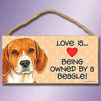 Sjt Enterprises Love Is Dog Sign Beagle