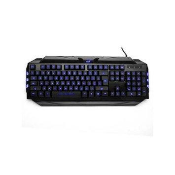 AGPtek LED Ergonomic Illuminated Gaming Keyboard Backlit Brightness Adjustable USB Wired Multimedia