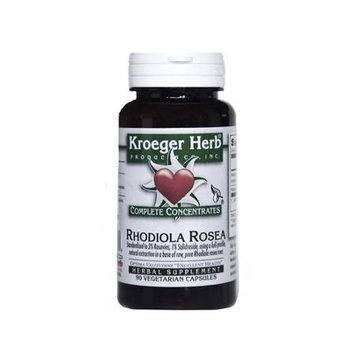 Rhodiola Rosea Complete Concentrate Kroeger Herbs 90 Veg Cap