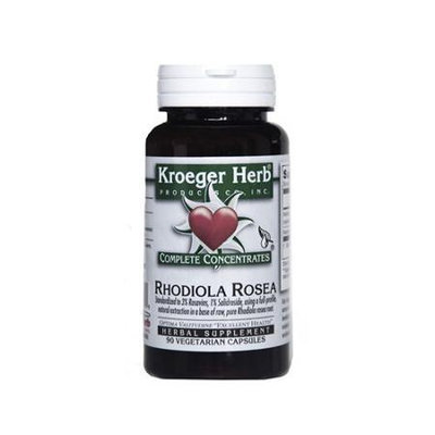 Rhodiola Rosea Complete Concentrate Kroeger Herbs 90 Veg Cap