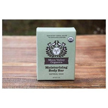 Moon Valley Organics - Cleansing Body Bar Oatmeal Sage - 4 oz.