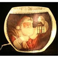 DecorFreak Santa Oval Glass Jar - - Santa & Lamp