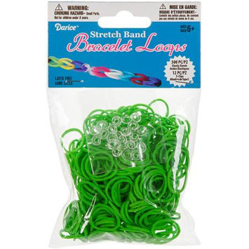 Darice Inc Darice RB1-1005 Mini Rubber Bands 300-Pkg with 12 Clips-Green