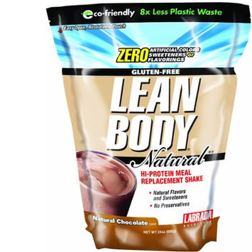Labrada Lean Body Hi Protein Meal Replacement Shake, Natural Chocolate, 24oz