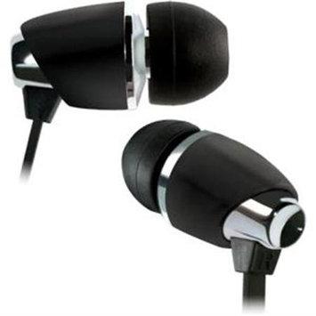 Bell'o International BELLO INTERNATIONAL LLC BDH440BK In-Ear Stereo Headphones - Matte Black and Chrome