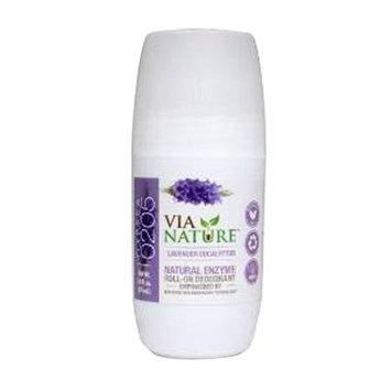 Via Nature - Natural Enzyme Roll-On Deodorant Lavender Eucalyptus - 2.5 oz.