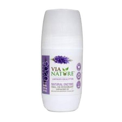 Via Nature - Natural Enzyme Roll-On Deodorant Lavender Eucalyptus - 2.5 oz.