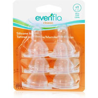 Evenflo 6-Pack Silicone Slow Flow Nipples