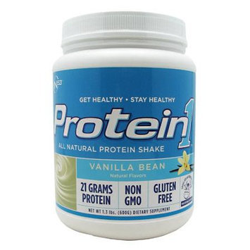 Nutrition 53 - Protein1 All Natural Protein Shake Vanilla Bean - 1.3 lbs.
