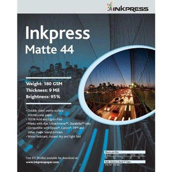 Inkpress Duo Matte 44 Inkjet Printer Paper, Double Sided, 180gsm, 9mil, 95% Bright, 17x22