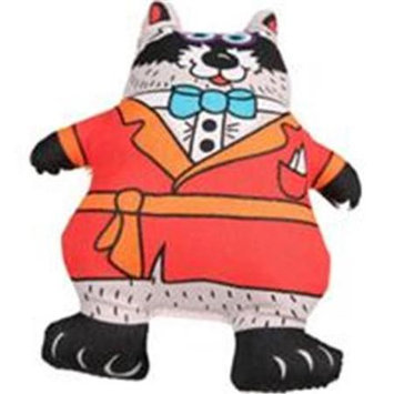 Petstages Madcap Well Dressed Raccoon Squeaker Dog Toy