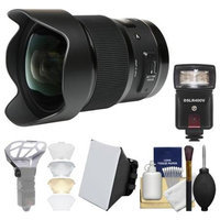 Sigma 20mm f/1.4 Art DG HSM Lens (for Canon EOS Cameras) with Flash + Soft Box + Diffuser Bouncer + Kit