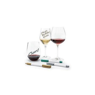 Wine Enthusiast Wine Glass Writer Metallic Pen (3 Pack)