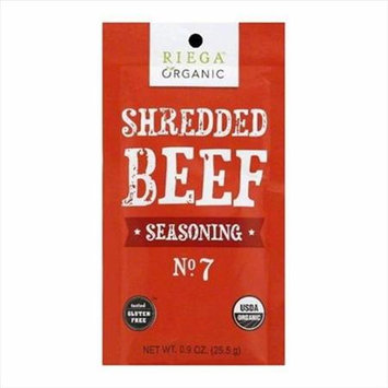 Riega Foods SEASN, OG2, SHRD BEEF, NO. 2, (Pack of 8)