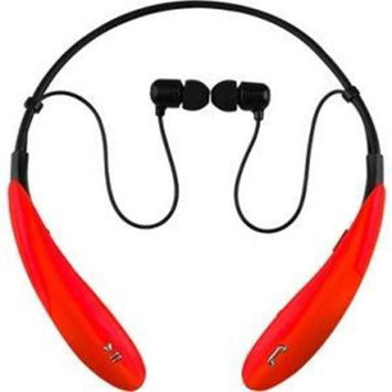 Supersonic IQ Sound Bluetooth Wireless Headphones and Mic - Stereo - Red - Wireless - Bluetooth - 32.8 ft - 16 Ohm - 20 Hz - 20 kHz - Earbud, Behind-the-neck - Binaural - In-ear