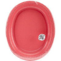 Creative Converting Oval Platter 10X12 8/Pkg-Coral