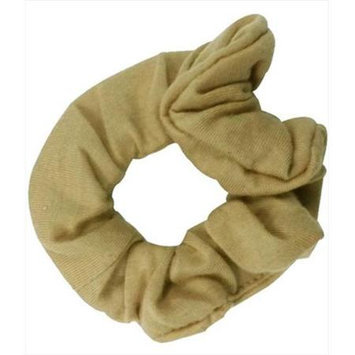 Coveryouhair CoverYourHair 61262 Soft Classy Solid Scrunchy Beige