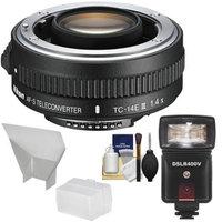 Nikon TC-14E III 1.4x AF-S Teleconverter with Flash & LED Video Light + Diffuser + Bounce Reflector + Kit